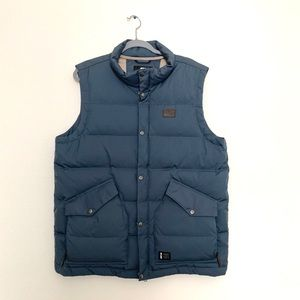 Nike Blue Down Vest - Size Large